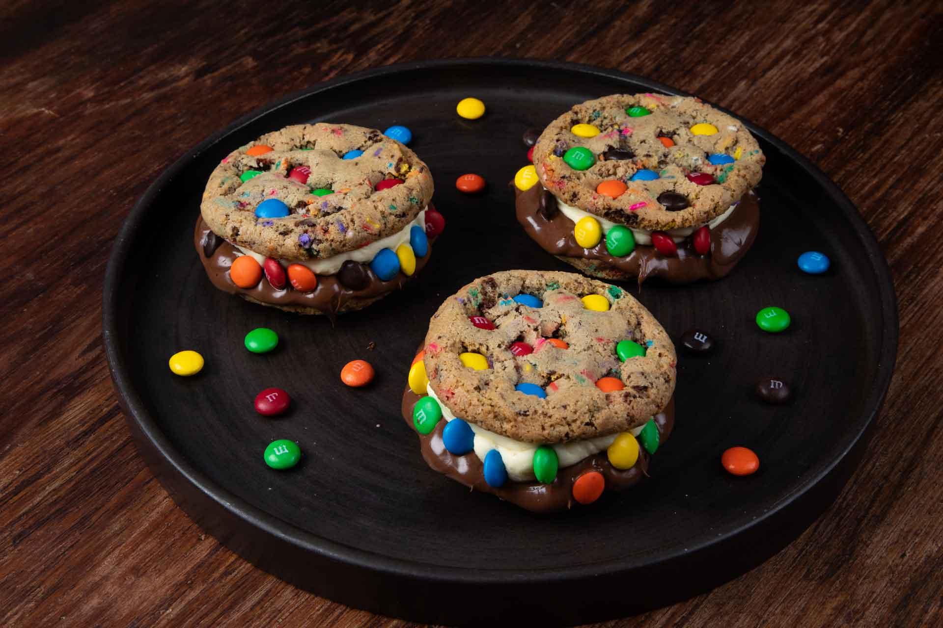 Cookies Burger M&M